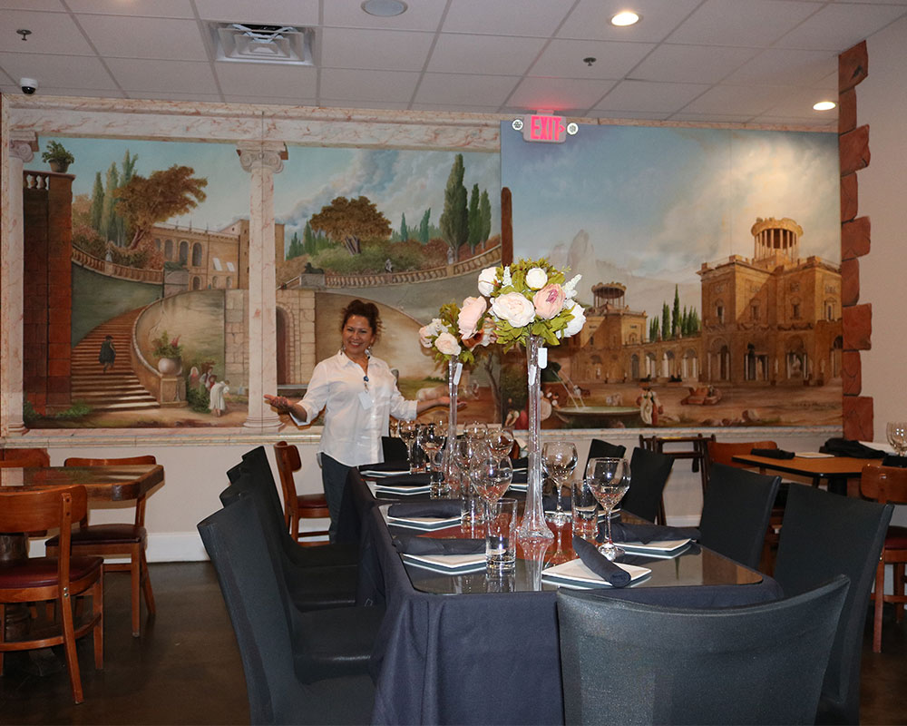 Italian Restaurant Special Event Room